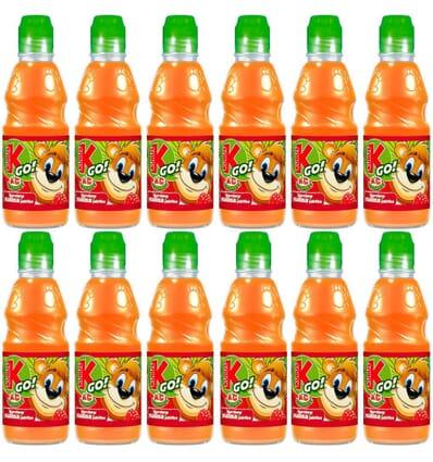 12x Carrot, apple, and raspberry juice GO! Kubus 300ml
