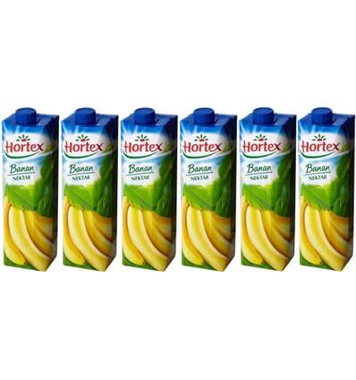 6x Nectar banane Hortex 1l