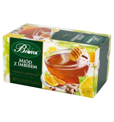 Bifix Honig mit Ingwer Tee 20 Beutel