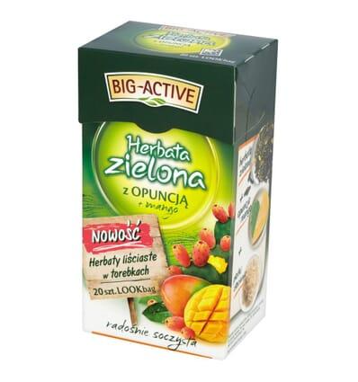 Big-Active grüner Tee mit Opuntie und Mango 20 Beutel