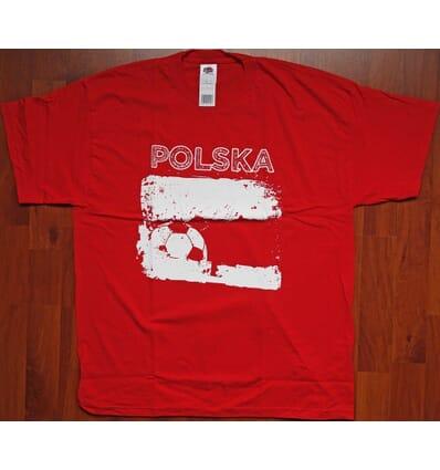 """Pologne Polska - t-shirt """"Polska"""" rouge S"""