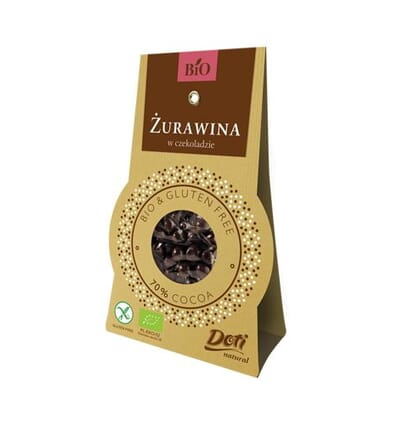 Chocolate-covered (70%) cranberry Doti 60g