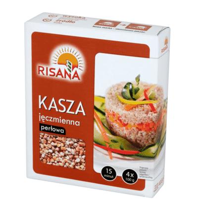 Pearl barley groats Risana 4x100g