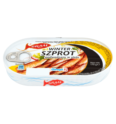 Smoked sprats in oil Graal 170g