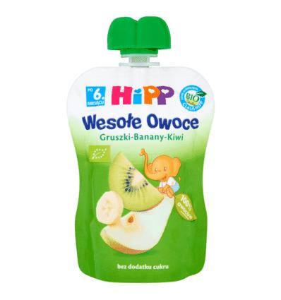 Mus Wesołe Owoce gruszki-banany-kiwi Hipp 90g