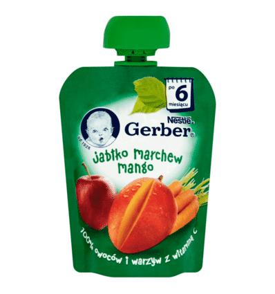 Mus Pouch jabłko-marchew-mango Gerber 90g