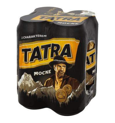 4x Bière Tatra Mocne en boîte 500ml