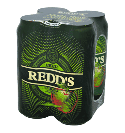 4x Redd's beer can 500ml