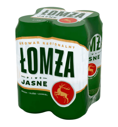 5x Lomza beer can 500ml