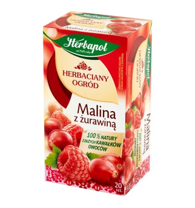 Raspberry tea with cranberry Herbapol 20 bags