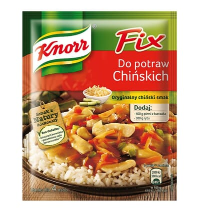 Fix for Chinese cuisine spice mix Knorr 39g