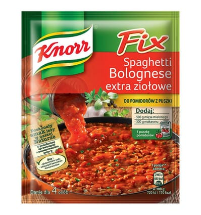 Fix Spaghetti Bolognese extra herbs spice mix Knorr 48g