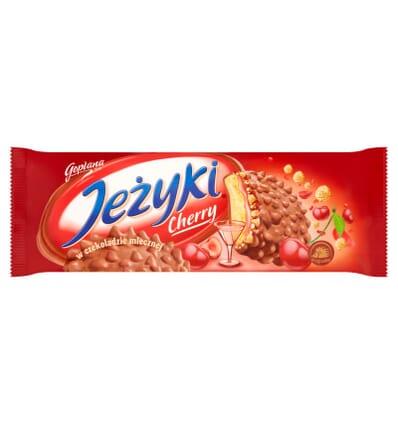 Biscuits au chocolat Jezyki Cherry Jutrzenka 140g