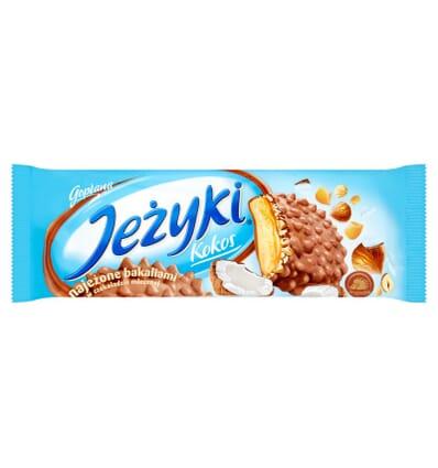 Biscuits au chocolat Jezyki Noix de coco Jutrzenka 140g