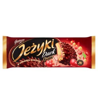 Biscuits au chocolat Jezyki Dark Cherry Jutrzenka 140g