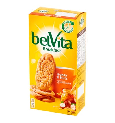 belVita Frühstückskekse Honig & Nüsse 300g
