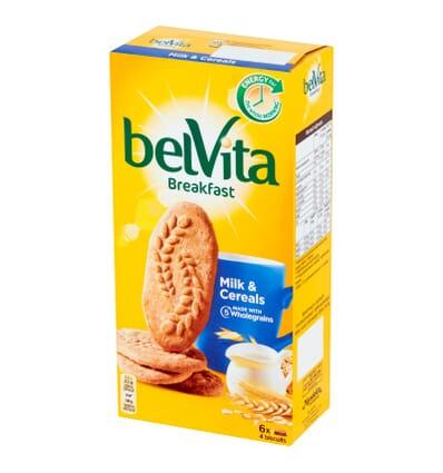 Cereal grains and milk bars belVita 300g