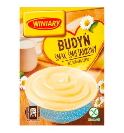 Winiary Pudding Sahne-Geschmack ohne Zucker 35g